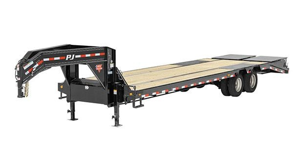 2019 PJ Trailers 14 in. I-Beam Low-Pro with Duals (L3) Flatbed Trailer