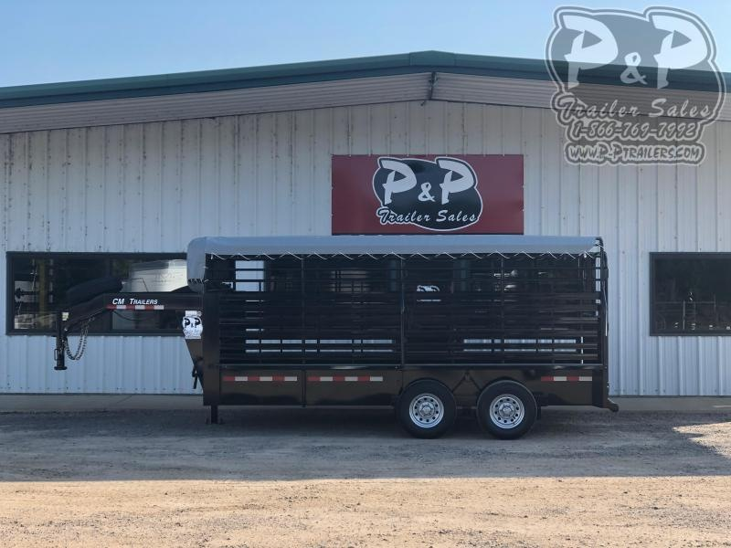 2020 CM CMS9440-16 16 ft Livestock Trailer