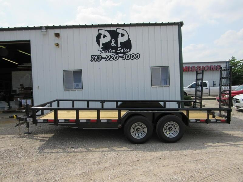 2018 P and P 83 X 18 Medium Duty Pipe Top 18' Utility Trailer