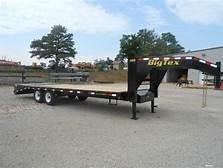 2019 Big Tex Trailers Big Tex Trailers 14GN-20BK5MR 102 wide with Mega Ramps Flatbed Trailer