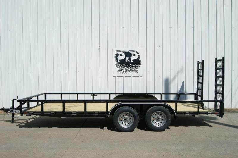 2019 P and P 83 X 18 Lowboy 18' Utility Trailer