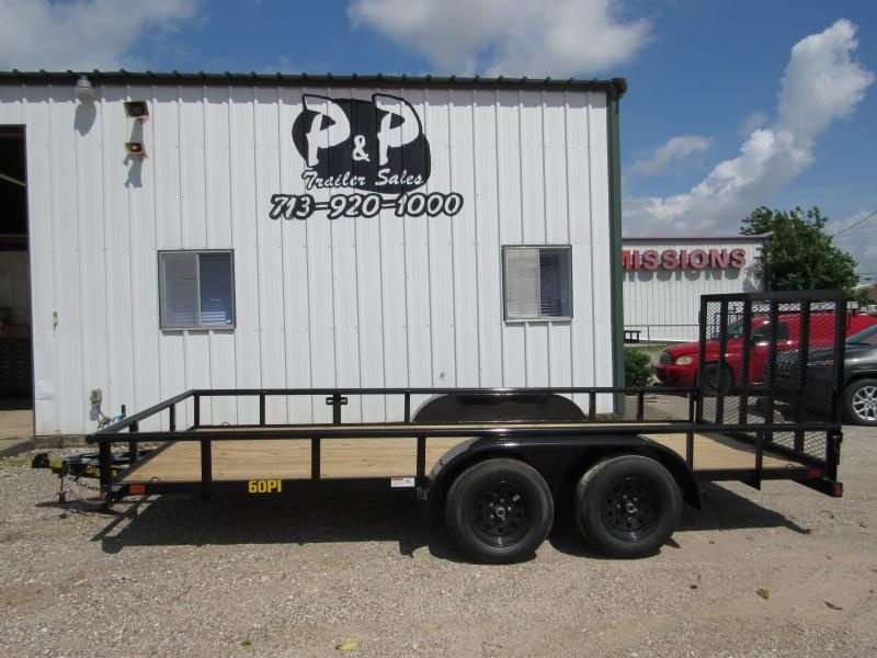 2019 Big Tex Trailers 60PI-16BK4RG 16 16' Utility Trailer