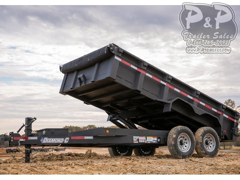 2018 Diamond C Trailers 21WD 16' x 82 16 ft Dump Trailer