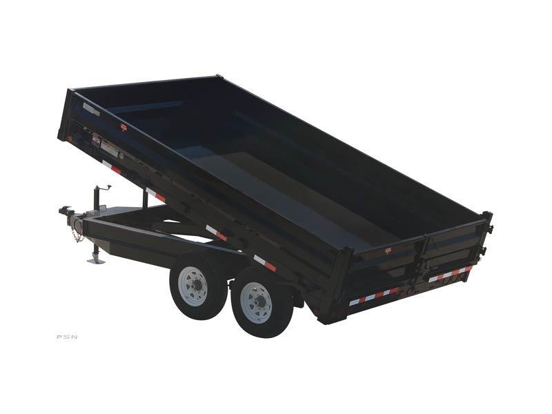2019 PJ Trailers 96 in. Deckover Dump (D8) Dump Trailer