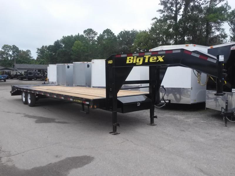 2020 Big Tex Trailers 14GN-20BK+5MR 25' Flatbed Trailer