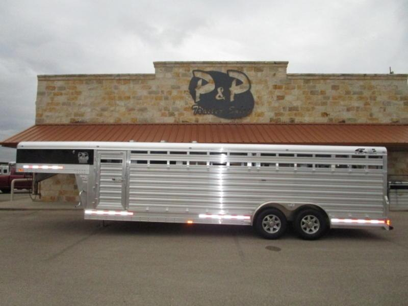 2018 4-Star Trailers Gooseneck Stock Trailer 24'X8'X6' Club Calf