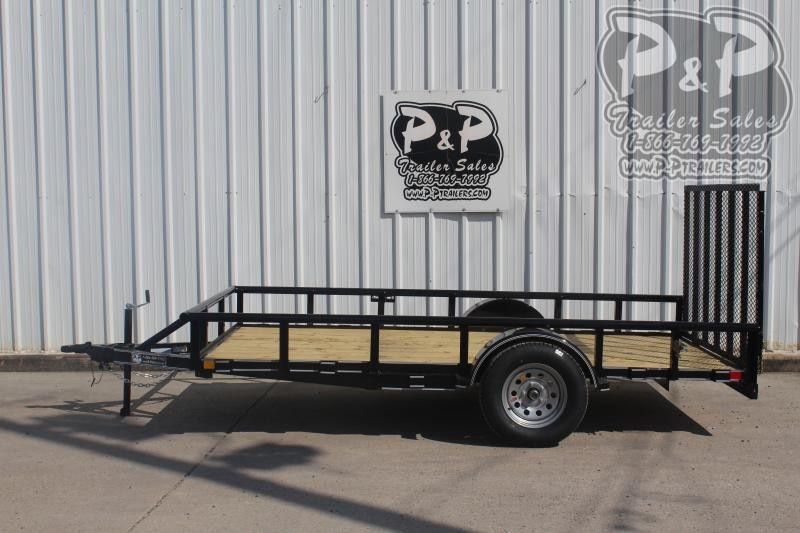 2019 P and P PPSA12X77LDRGPT 12 ft Utility Trailer