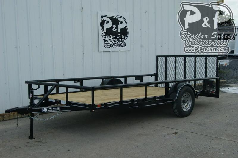 2019 P and P PPSA14X77LDRGPTDT 14 ft Utility Trailer