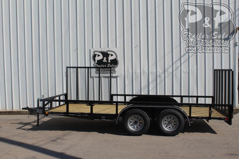 2019 P and P PPTA16X83GDRG 16 ft Utility Trailer
