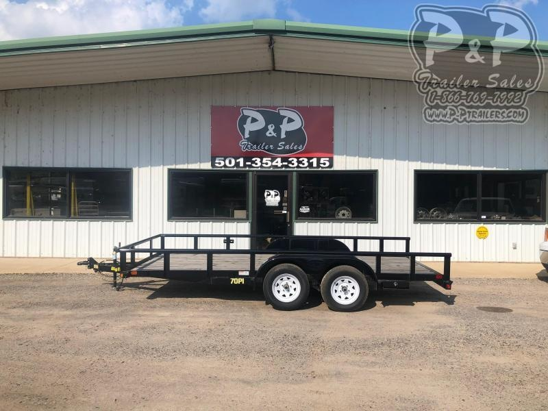 2018 Big Tex Trailers 70PI-16XBK 16 ft Utility Trailer