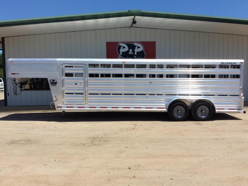 2019 Platinum Coach 724STK 24' Livestock Trailer