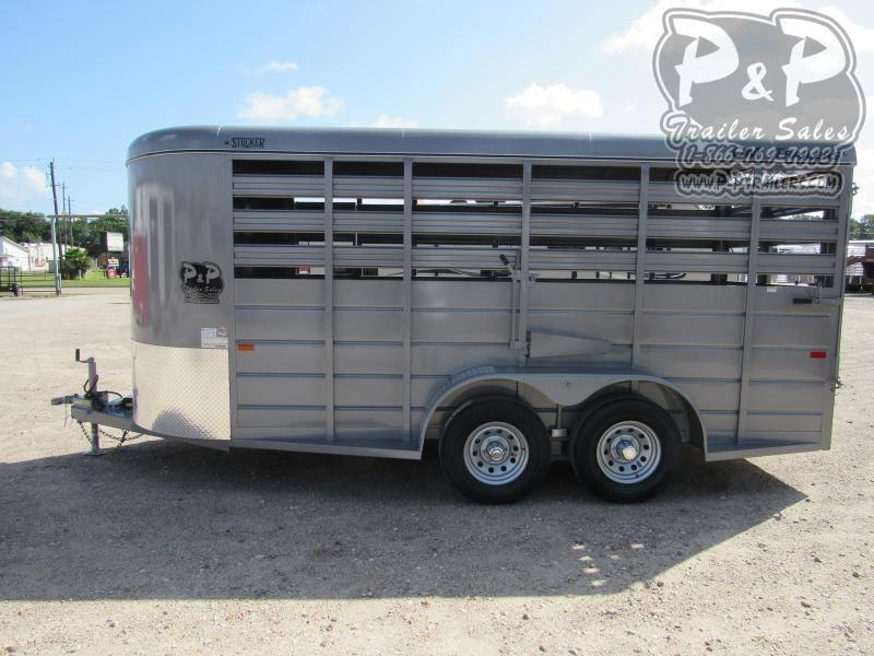 "2020 CM 16' x 6' 6.6"" 16 ft Livestock Trailer"