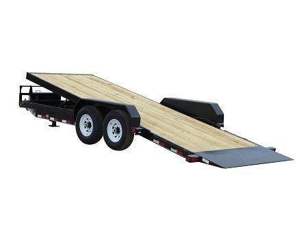 2019 PJ Trailers Powered Full Tilt (TF) Equipment Trailer