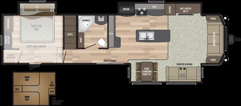 2019 Keystone RV Residence 40LOFT DESTINATION TRAILER 40.67' Destination Trailers LQ