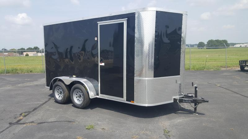 "2018 Arising 7X12VTRB Enclosed Cargo Trailer 6"" Additional Height"