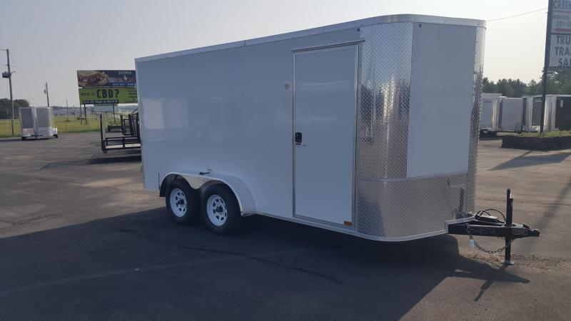 "2018 Arising 7X14VTDW Enclosed Cargo Trailer 6"" Additional Height"