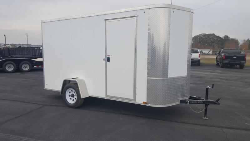 "2019 Arising 6X10VSRW Enclosed Cargo Trailer 6"" Additional Height"