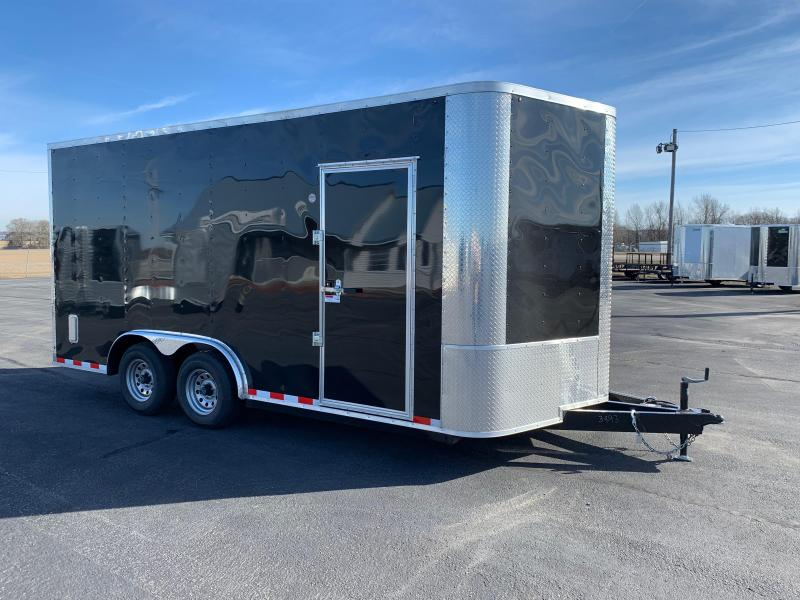 "2019 Arising 8.5 X 16VTRB Enclosed Cargo Trailer 12"" Additional Height"