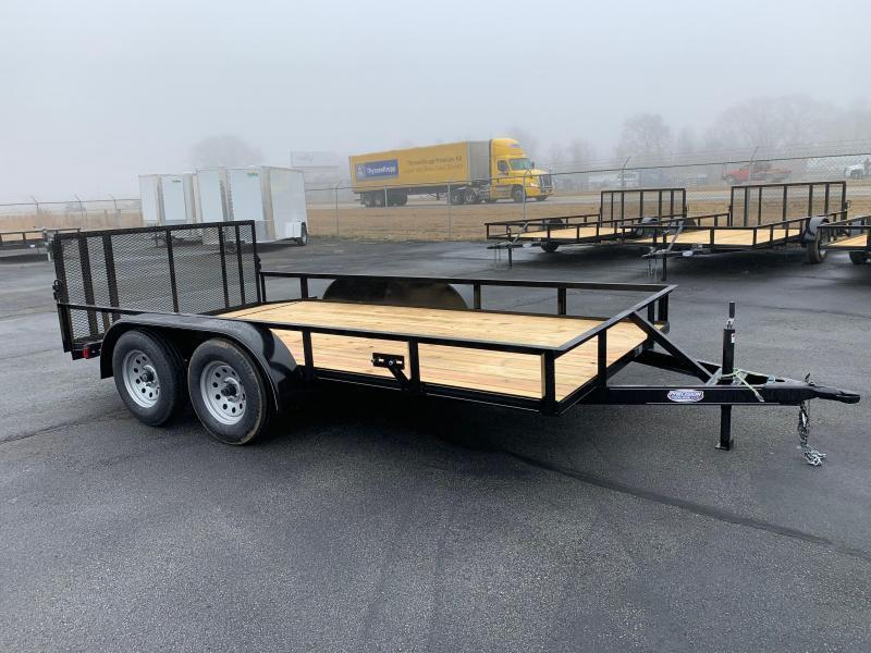 2019 Precision 77 X 14 Tandem Axle Utility Trailer Dove Tail