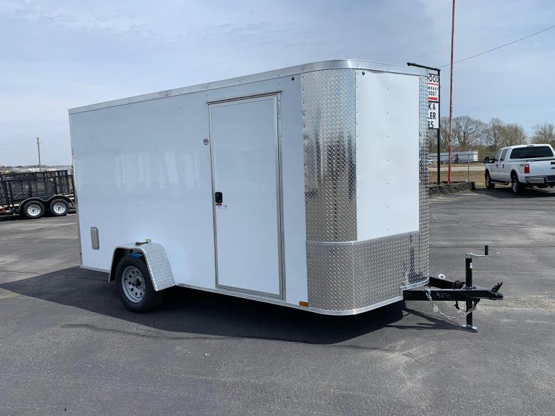 "2019 Arising 7X12VSRW Enclosed Cargo Trailer 6"" Additional Height"