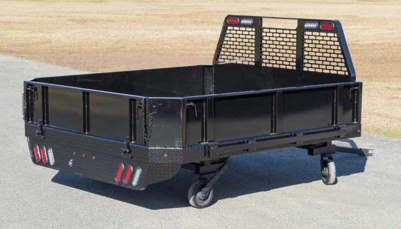 """2019 SH Truck Bodies 84"""" W X 8'6"""" L Single Wheel Steel Truck Bed"""