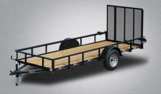 2020 Quality 6 x 14 Single Axle Landscape Trailer General Duty