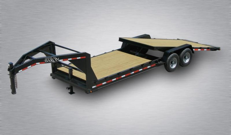 2020 Quality Professional Grade 24' 15K Gooseneck Wood Deck Tilt Equipment Hauler