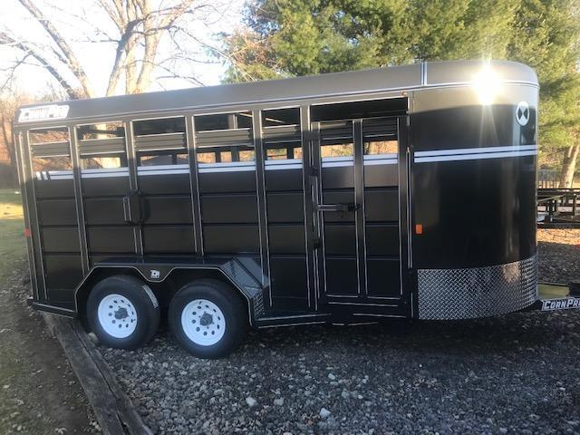 2020 CornPro SB-16 6S Livestock Trailer 9990# GVWR CHARCOAL GRAY
