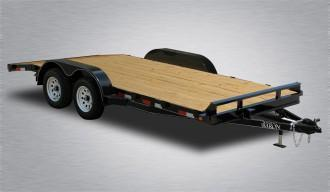 "2020 Quality Car Hauler  82"" X 18' 7000# GVWR General Duty - Wood Deck"