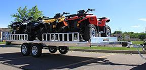 2020 Aluma A8818 ALUMINUM ATV Trailer - Tandem Axle