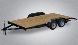 "2020 Quality Car Hauler  82"" X 16' 7000# GVWR Economy - Wood Deck"
