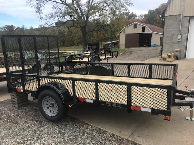 2020 Quality 6 x 12 Single Axle Landscape Trailer PRO w/ MESH SIDES