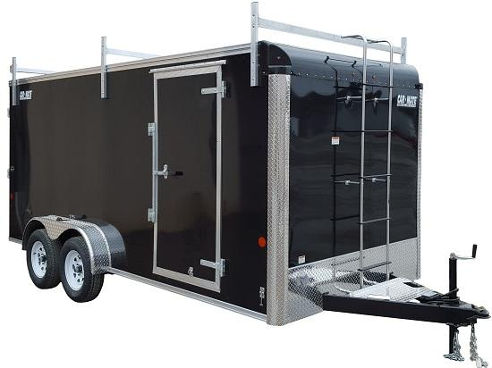2020 Car Mate Trailers CM716CC-HD/CTR - 7'W Tandem Axle Custom Cargo Contractor Trailer Enclosed Cargo Trailer