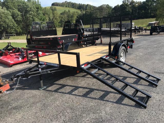 2020 Quality 6 x 12 Single Axle Landscape Trailer PRO w/ Side Ramps