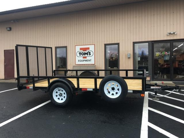 """2020 Quality 77"""" x 12 Single Axle Landscape Trailer PRO w/ Free Spare and Spare Tire Carrier"""