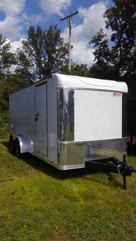 2020 Pace American Pxt Extreme Flat Top Cargo / Enclosed Trailer 7 x 16