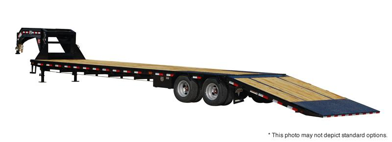 PJ Trailers 34' Low-Pro with Hydraulic Dove Trailer