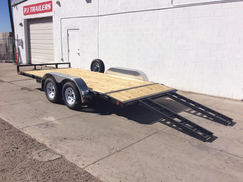"2018 PJ Trailers 20' x 5"" Channel Carhauler Trailer"