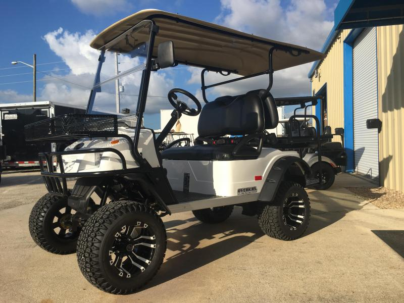 2019 StarEV Sport 48V Electric Golf Cart Street Legal 4 Pass Lifted - White