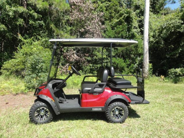 2020 Yamaha Drive 2 Adventurer Sport Gas Golf Cart 4 Passenger Red with Black Seats