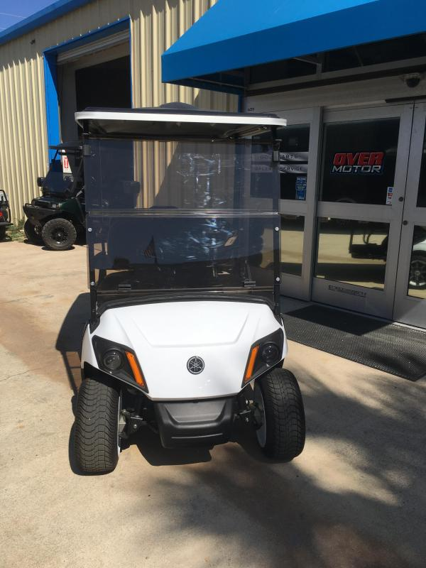 2018 Yamaha Drive2 Fuel Injected Gas Golf Cart 4 Pass - White