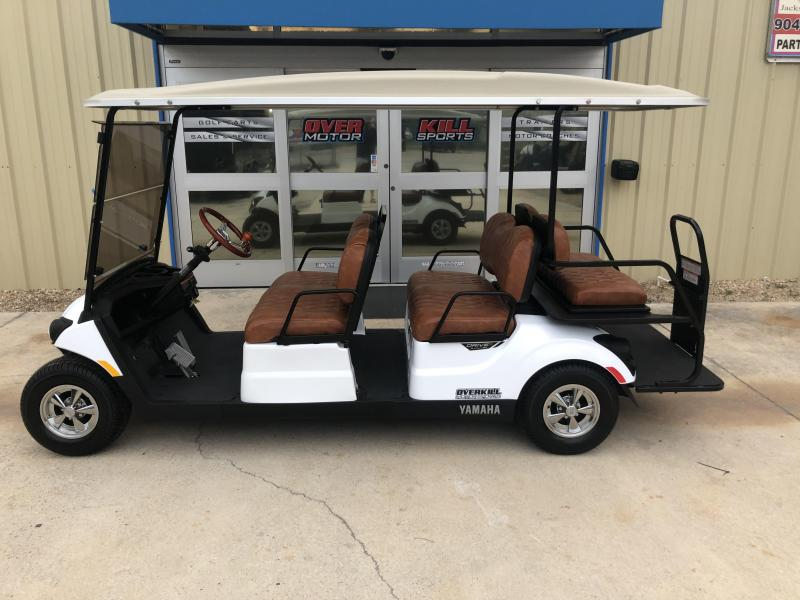 Yamaha Concierge Gas Golf Cart 6 Passenger - White