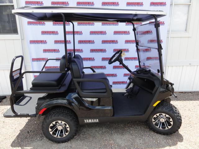 2020 Yamaha Drive 2 Adventurer Sport Gas Golf Cart 4 Passenger Black with Black Seats