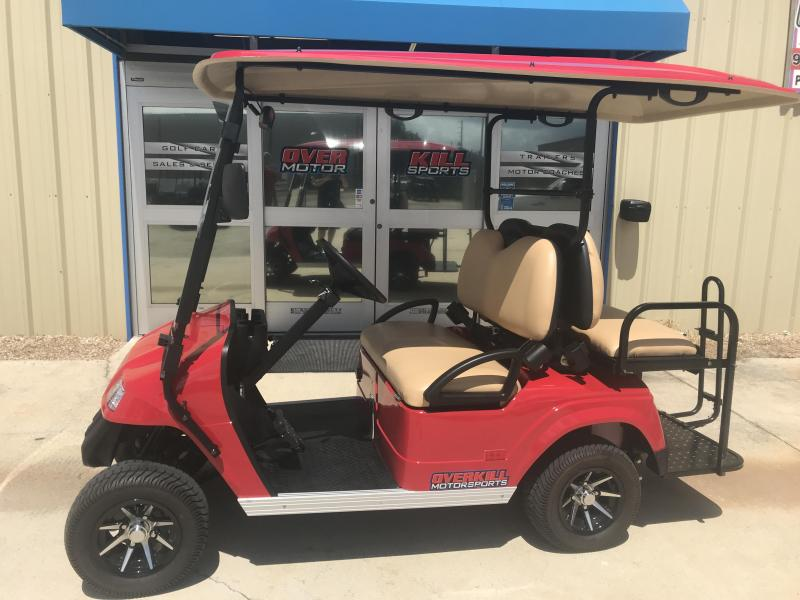 2018 StarEV Classic 48V Electric Golf Cart Street Legal 4 Pass - Red