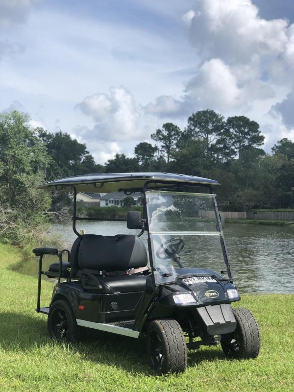 StarEV Classic 48V Electric Golf Cart Street Legal 4 Pass - Black