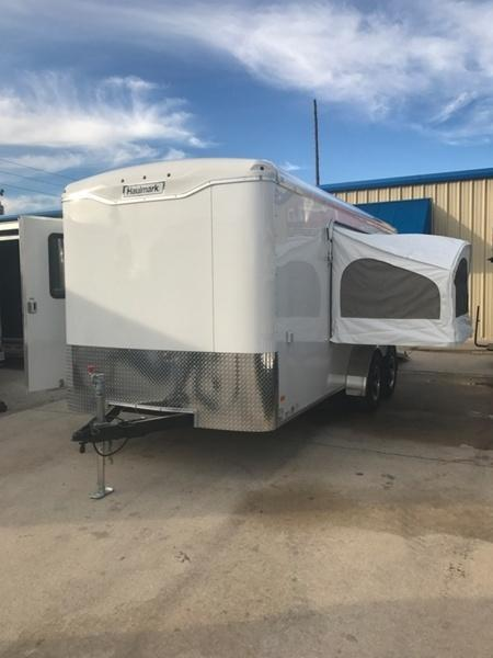 2017 Haulmark 7X16 Transport Tandem Axle w/ Weekender Package White