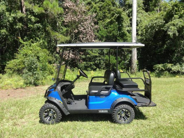 2020 Yamaha Drive 2 Adventurer Sport Gas Golf Cart 4 Passenger Blue with Black Seats