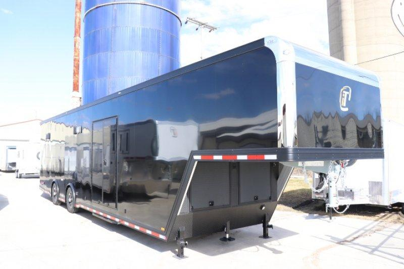 2018 inTech 40' Black Gooseneck Aluminum Trailer
