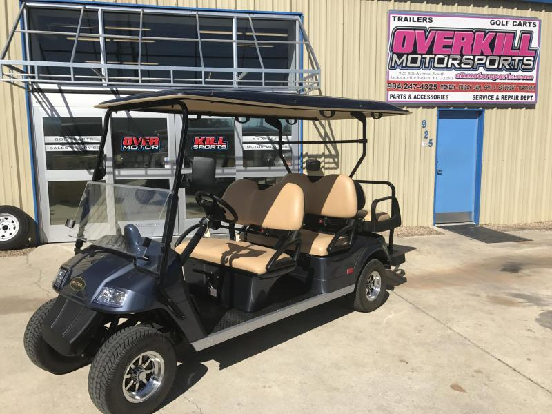 2018 Star Electric Vehicles Classic 48v Electric Golf Cart Street Legal 6 Passenger Blue