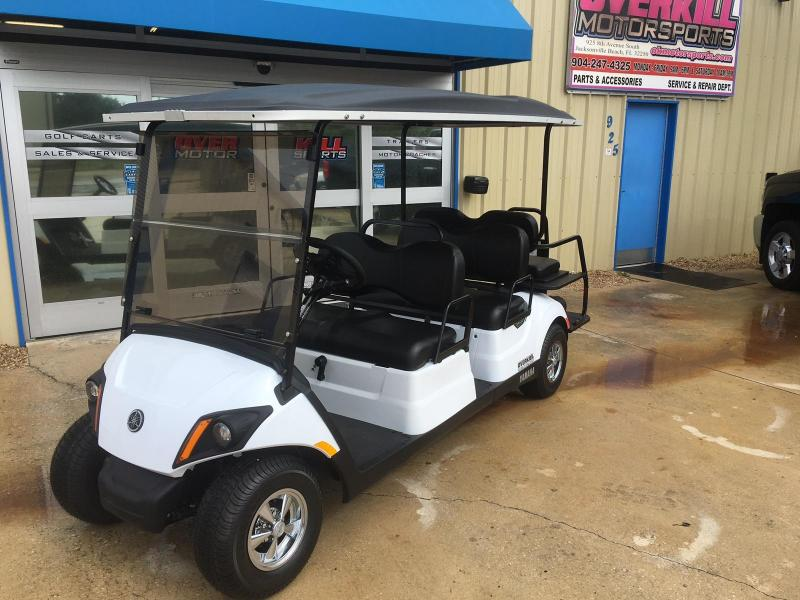 2018 Yamaha Concierge Gas Golf Cart 6 Passenger - White